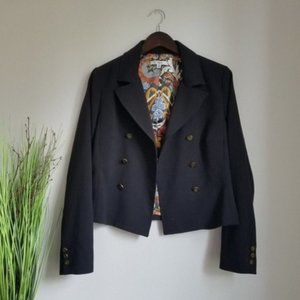 CAbi Black Double Breasted Lined Blazer Style #690